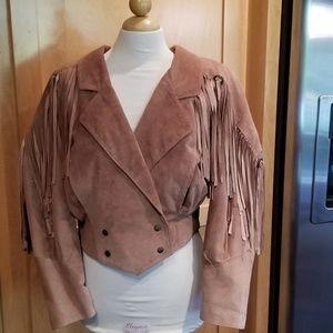 Vintage 80's Leather Fringe Jacket